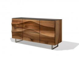Design Sideboard Weiss Riedinger Massivholz Möbel