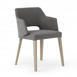 Riedinger Design Moebel Stühle Grau mit Armlehne