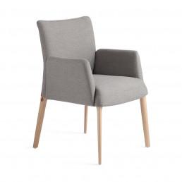 Riedinger Design Moebel Stühle Grau Armauflage