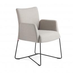 Riedinger Design Moebel Stühle Hellgrau Armauflage