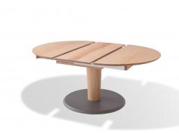 Riedinger ausziehbarer Tisch oval Massivholz